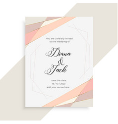 Subtle elegant wedding invitation card design vector