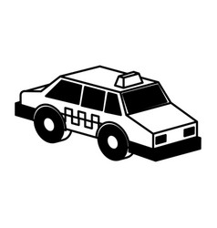 taxi service isometric icon vector image