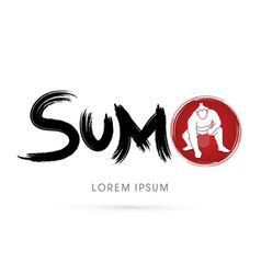 text sumo with sumo vector image