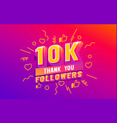Thank you 10k followers peoples online social vector