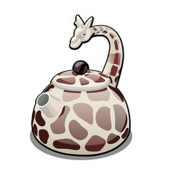 the kettle in the form of a giraffe isolated on a vector image