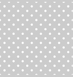 tile polka dots grey pattern vector image