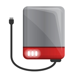 Usb hard disk icon cartoon style vector