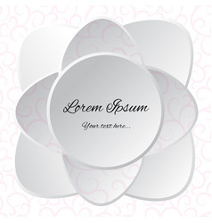 White flower background for design vector