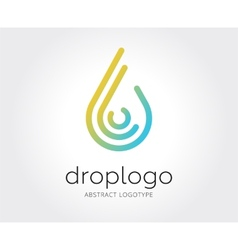 Abstract water drop logo template for vector image