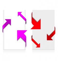 corner arrow set vector image
