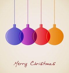 Elegant Christmas decoration background vector image vector image