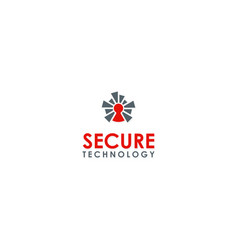 security technology logo vector image vector image