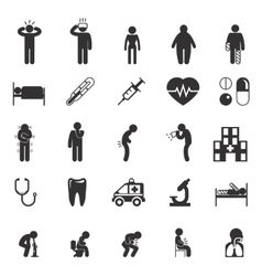 Sick icons People pictograms vector image
