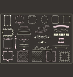 vintage empty decorative elements collection vector image vector image