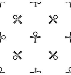 egypt ankh symbol pattern seamless black vector image vector image