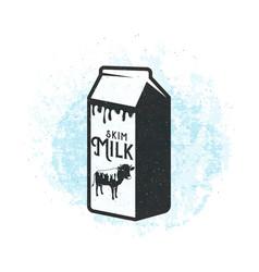 fresh dairy milk background vector image