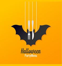 halloween menu logo design background vector image vector image
