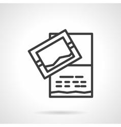 Invitation card icon black line design icon vector image