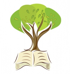 book with tree vector image vector image