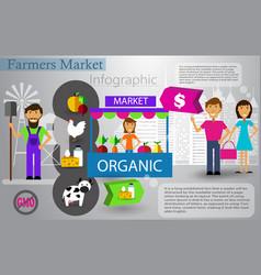 farm market infographic vector image vector image