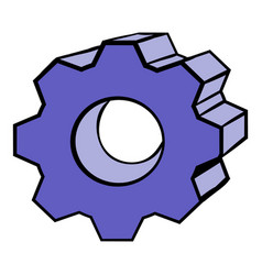 gear icon cartoon vector image vector image