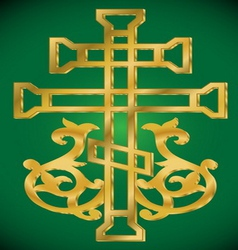 Grapes Christian Holy cross vector image