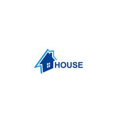 house design logo vector image