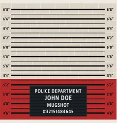 police mugshot template vector image