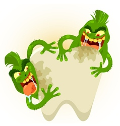 ugly tooth germs vector image