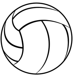 a volleyball outline isolated in white background vector image vector image