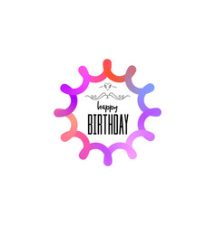 badge as part of the design - happy birthday vector image