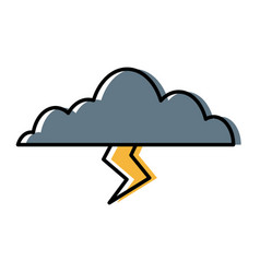 clouds sky weather seasonal lightning climate icon vector image vector image