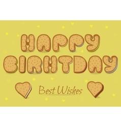 Happy birthday Cookies font vector image