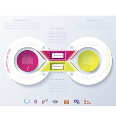 Abstract infographic design with color circles and vector image