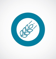 Agriculture icon bold blue circle border vector