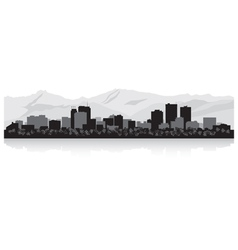 Anchorage USA city skyline silhouette vector image vector image