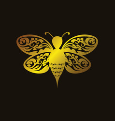 Art bee vector