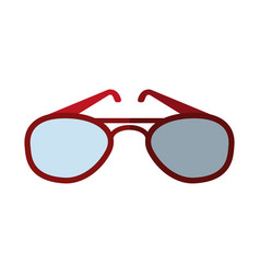 Aviator sunglasses icon image vector