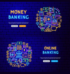 banking finance banners vector image