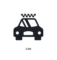 Black cab isolated icon simple element from vector
