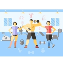 Bodybuilder Narciss Girls Poster vector image