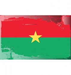 burkina faso national flag vector image
