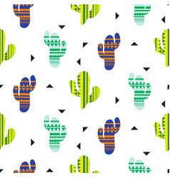 Cacti tribal seamless pattern mexican vector