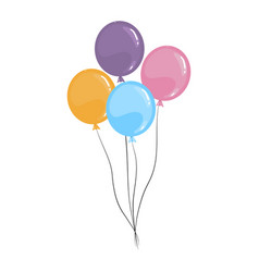 cartoon balloons isolated on a white vector image