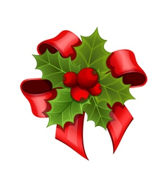 Christmas bouquet of Holly vector