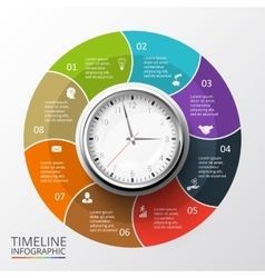 circles elements for timeline infographic vector image