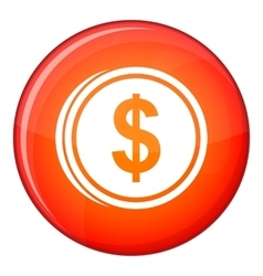 Coin dollar icon flat style vector image