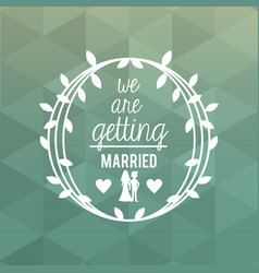 colorful abstract background card of wedding and vector image