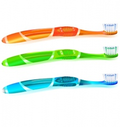 Colorful toothbrush vector