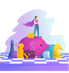 Concept save investment business strategy and vector