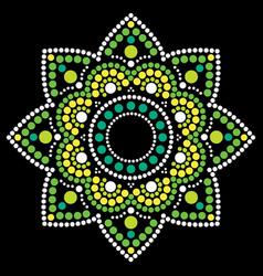 Dot painting ethnic mandala - australia vector