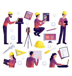 engineering isolated set vector image