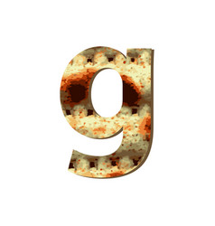 English lowercase letter g with matza texture vector