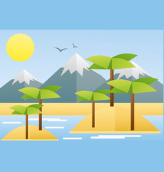 flat design of tropical summer vector image